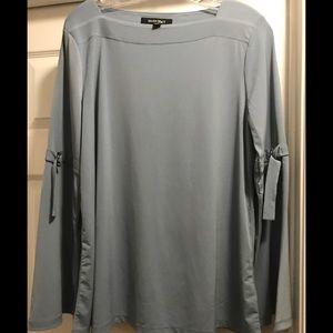 NWT Powder Blue Ellen Tracy blouse